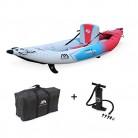KANGUI Canoë Kayak Hinchable Azul de 1 a 2 plazas + Remo