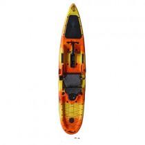 ANAN 3.96 Metros de Largo Solo Barco de Pesca Profesional Canoa amarillo naranja