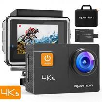 APEMAN A80 Cámara Deportiva 4K WiFi 20MP Cámara de Video Acuática Agua de 40M