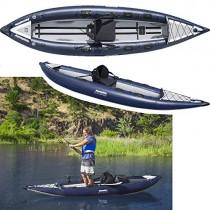 Aquaglide Angelboot Aufblasbares Kajak Blackfoot HB Kanu, 386 cm x 99 cm