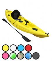Bluefin Kayak Pesca para una Sola Persona o Dos. con Soportes para caña de Pescar amarillo