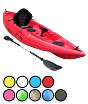 Bluefin Kayak Pesca para una Sola Persona o Dos. con Soportes para caña de Pescar, rojo