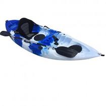 Cambridge Kayaks ES, Zander Azul Y Blanco Solo Kayak DE Pesca Y Paseo, RIGIDO