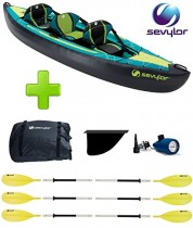 Canoa Kayak Modelo Ottawa marca Sevylor 2 + 1 plazas