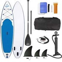 EASYmaxx Tabla Paddle Surf Hinchable para Principiantes con Bomba de Acción Doble