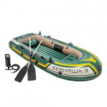 Intex 68380NP – Barca hinchable Seahawk 3, con remos aluminio 295 x 137 x 43 cm