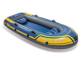 Intex – Barca hinchable Challenger 3/remos alum. 295 x 137 x 43 cm