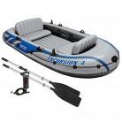 Intex Barca hinchable Excursion 4 con 2 remos – 315 x 165 x 43 cm