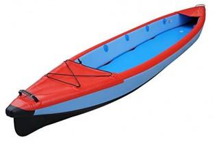 LIDAUTO Kayak Inflable Bote Inflable de Fondo Cepillado Barco de Pesca Red 2 Personas roja