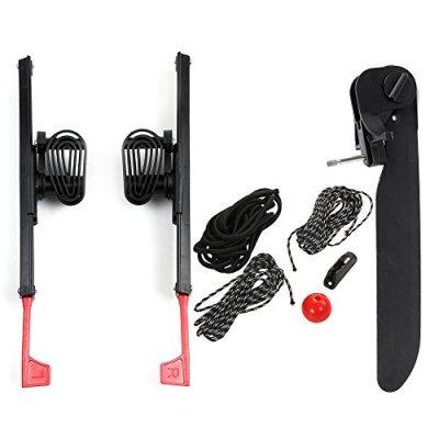 Lixada 2 Unids Adjustable Lock Kayak Foot Braces Pedales con Tail Rudder Foot