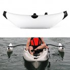 Lixada Kayak PVC Inflable Outrigger Kayak Canoa Barco de Pesca de Pie blanco