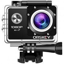 ORSKEY Cámara Deportiva 1080P WiFi 12MP Full HD Cámara de Acción Impermeable
