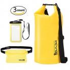 Premium Bolsa Estanca 20L Impermeable Seca PVC- Set de Bolsa Waterproof con Funda Táctil de Móvil