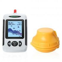 Uverbon – Detector de Peces inalámbrico Portátil DE 40 m de Profundidad Sonar con Alarma de Soporte